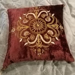 Velvet with metallic accents, 15×15 pillow cover